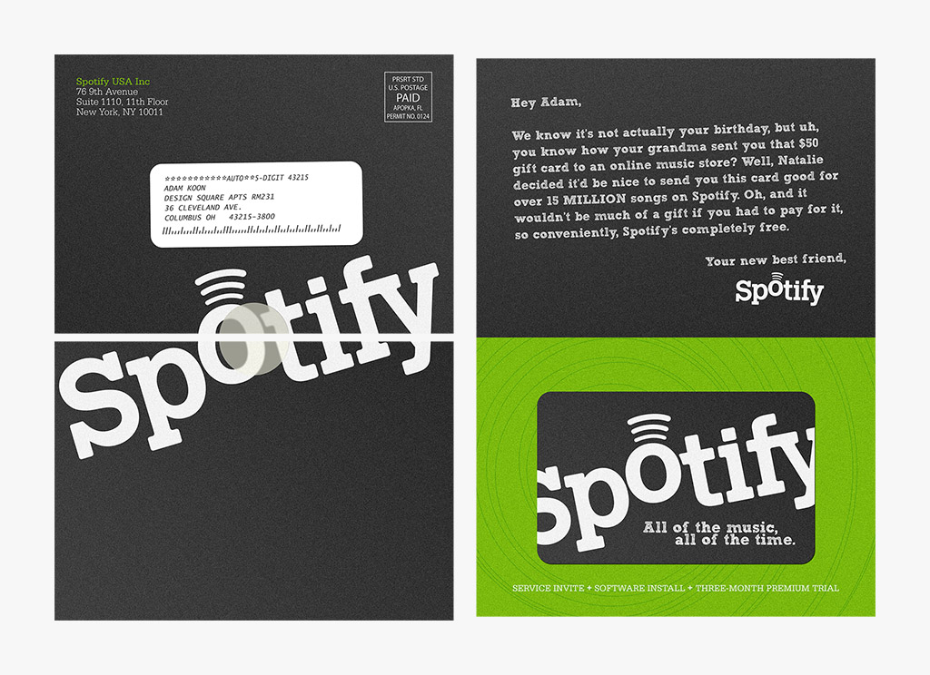 Spotify Gift Card Mailer Brand Swag Pinterest - gift certificate template free download