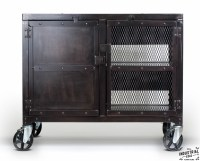 Industrial Rolling Kitchen Cart / Wine Cabinet  Real ...