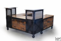Reclaimed Wood & Steel Reception Desk  Real Industrial ...