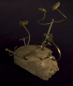 """Found objects (wood & old clock parts) 5"""" x 5"""" x 5"""" - 2008"""