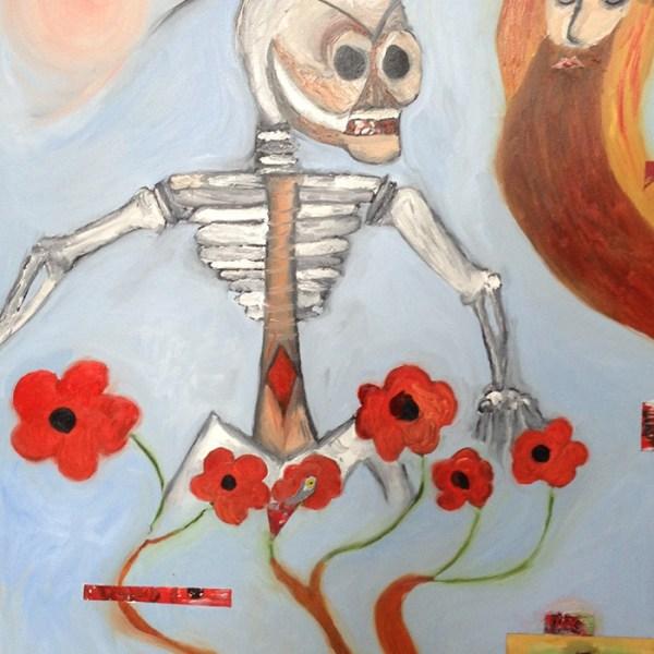 Death Strolling in a Field of Flowers
