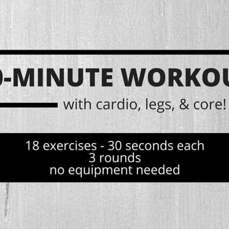 30-Minute Workout With Cardio, Legs, and Core