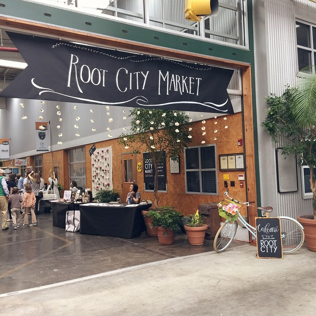 'Sploring the city today. So excited to be at @rootcitymarket!…