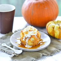 Pumpkin Bread Pudding Mug Cake