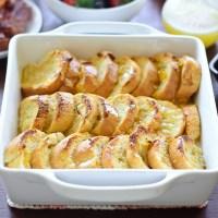 Sunday Brunch: Overnight Lemon-Glazed French Toast Bake
