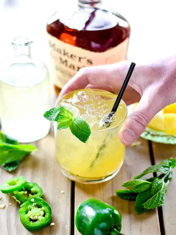 Spicy Pineapple Mint Juleps
