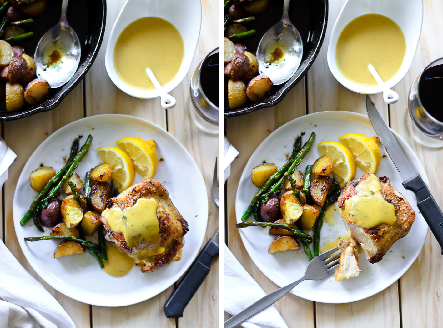 Pan Roasted Chicken with Honey Mustard Sauce