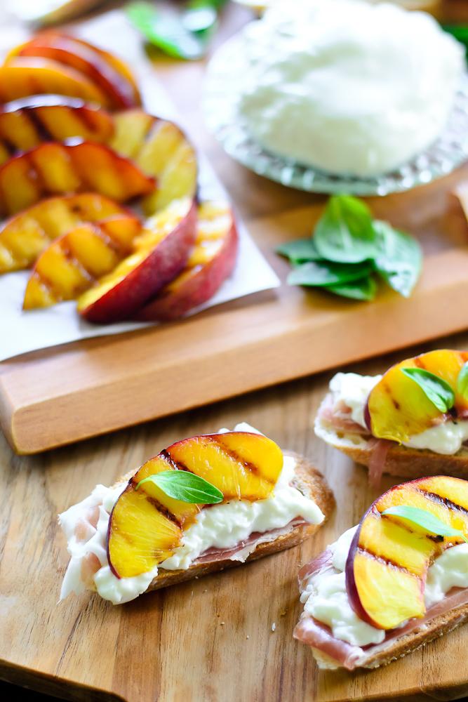 Grilled Nectarine Toasts 16