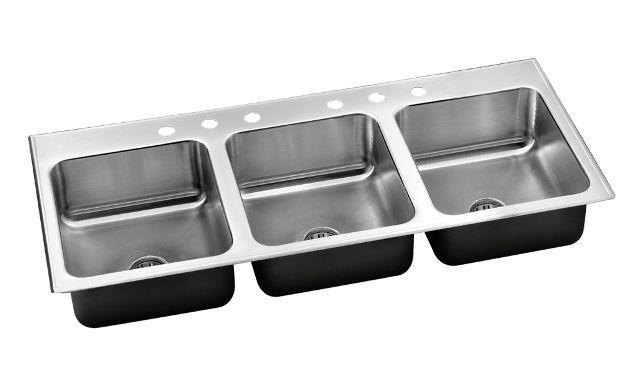 Integra Triple Bowl Stainless Steel Sinks And Faucets By