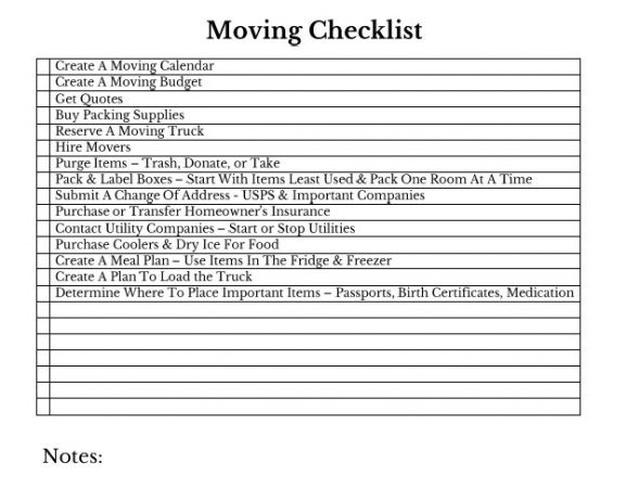 Top 5 Moving Tips Moving Checklist - Just Tiki - moving checklist template