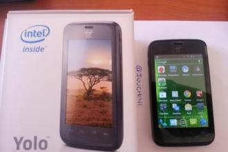 Intel Safaricom YOLO smartphone with box