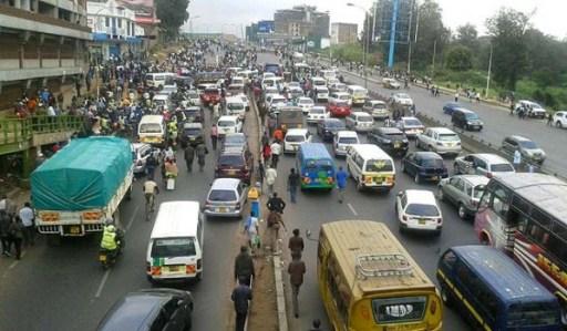 Kenya Minibus Matatu Jam JUUCHINI