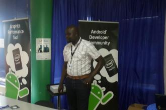 Frederick Odhiambo from Intel East Africa at Outbox Uganda for Intel Codefest image courtesy Outbox Juuchini