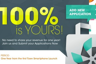 TIZEN STORE PROMOTION 100 PERCENT SALES REVENUE FOR DEVELOPER JUUCHINI