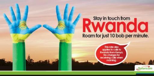 Safaricom Kenya Reduced Roaming rates Rwanda JUUCHINI