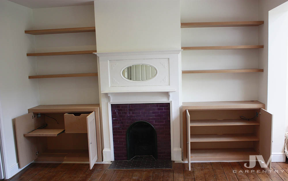 Bespoke Alcove Cupboards And Floating Shelves Barking