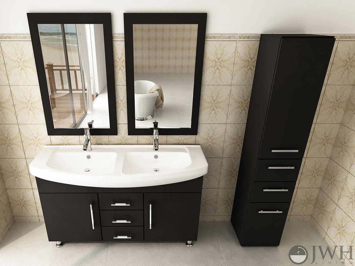 Jwh Living 48quot Celine Double Sink Vanity