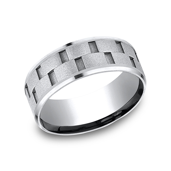 wedding this features stylish on band design mervisdiamonds slight polished beveled bands high edge benchmark fit images a carved comfort and pinterest best