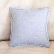 Blue Snowflake Pillow Back