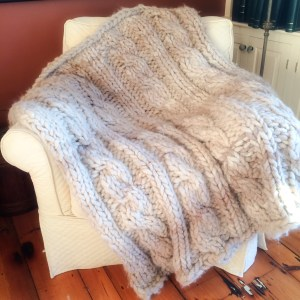Ombre Chunky Cabled Afghan