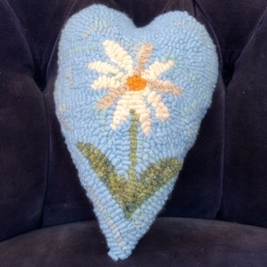 Blue Daisy Heart 3