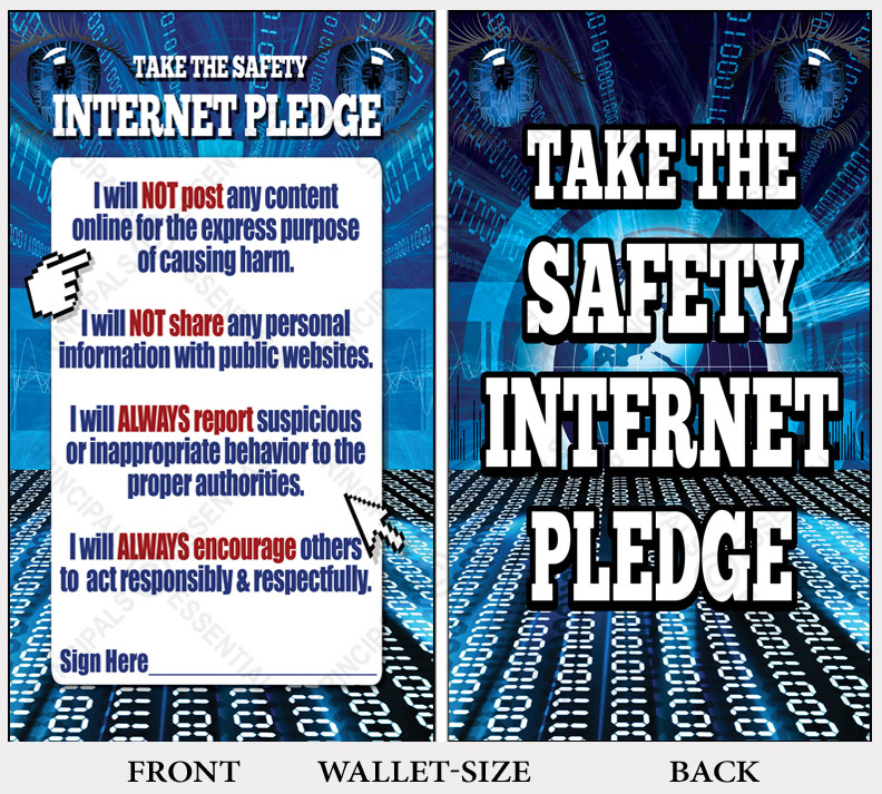 Internet Safety Pledge\u003cbr\u003e 500 Wallet-size Cards - poster on line