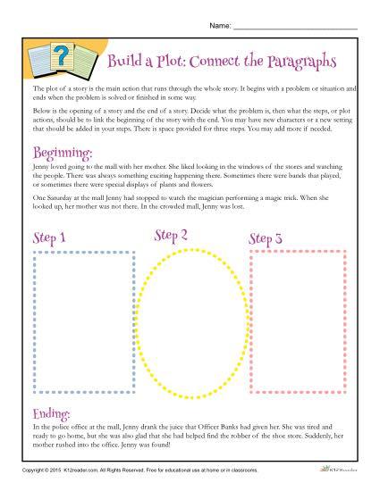 Build a Plot Connect the Paragraphs Worksheet