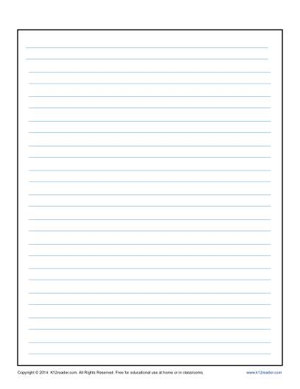 Lined Writing Paper for Kids - lined writing paper