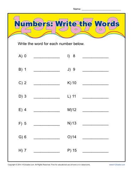 writing numbers in words - Selol-ink