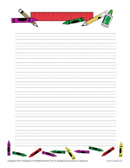 School Printable Lined Writing Paper - print lined writing paper