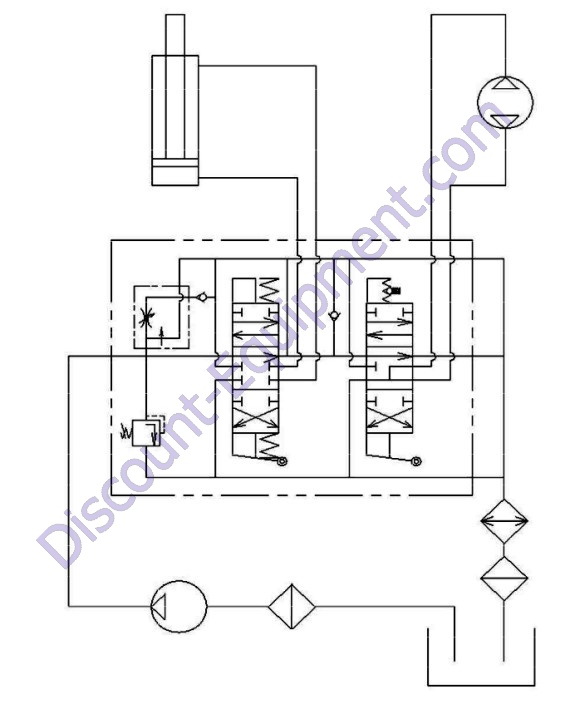 HM12-GH13, HM16-GH13 Hydraulic Schematic - Discount-Equipment