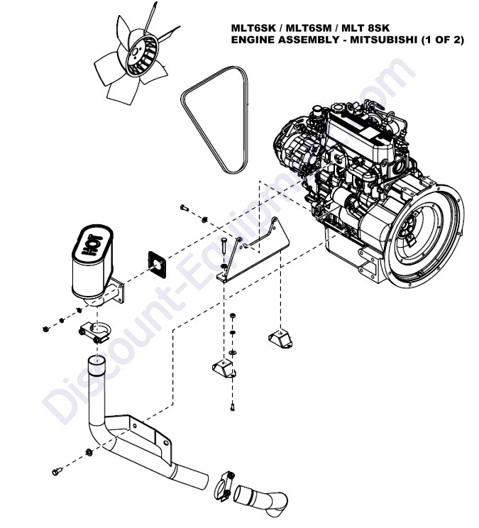 mitsubishi l3e engine parts