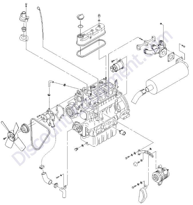 kubota d1005 engine parts manual