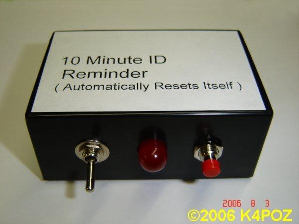 K4POZ ID Reminder - ID Timer