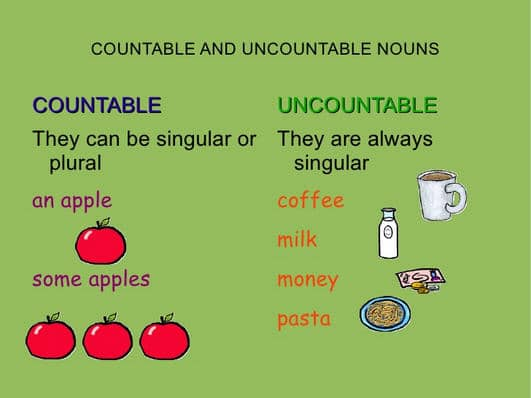 Teaching your Kids why Non-count Nouns cannot be Pluralized by Numbers - count and noncount nouns esl