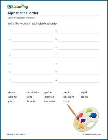vocabulary 3rd grade - Pinarkubkireklamowe