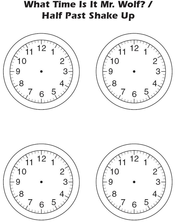 clock face template black K5 Worksheets