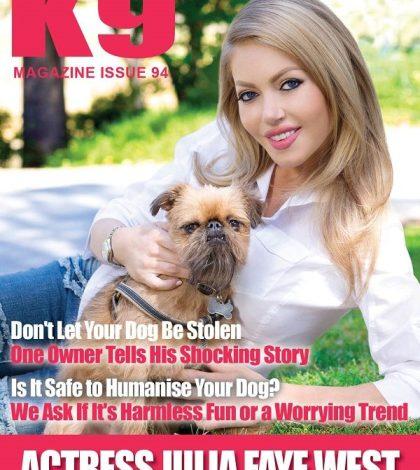 K9 Magazine Issue 94 Cover - Julia Faye West (LR)