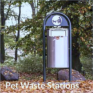 pet waste station in a park