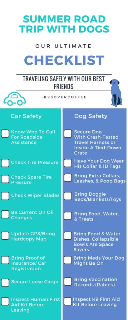 Summer Road Trip With Dogs - Our Ultimate Checklist - summer vacation checklist