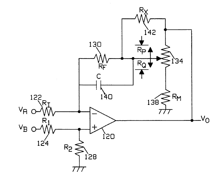 variable gain differential input instrumentation amplifier circuit is