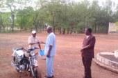 Sports-Dabola: Le Directeur Préfectoral de la Jeunesse (DPJ) doté d'une moto