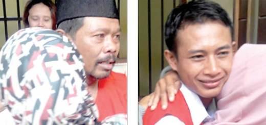 Pak-Po-dan-Hengky-disambut-haru-oleh-keluarganya-setelah-diputus-bebas-oleh-majelis-hakim-Pengadilan-Negeri-Banyuwangi-kemarin