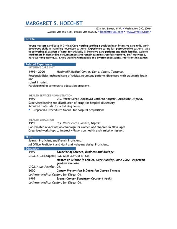 No Job Experience Resume Example - resume for jobs with no experience