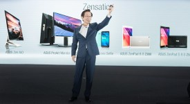Asus Chairman Johney Shih presenting the Zensation range of products at the Computex event recently (2)