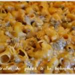 Recette de gratin de pâte à la sauce tomate bolognaise-Plat du jour