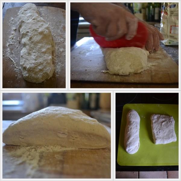 Façonnage du pain à hamburger long ou carré recouvert de graines de sésame