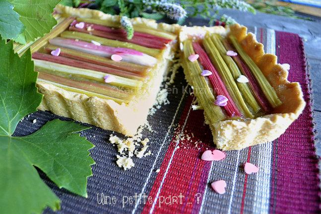 Tartelette rectangulaire la rhubarbe bio recette de - Comment cultiver de la rhubarbe ...