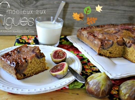 Moelleux figues - Gâteau moelleux figues rapadura et vanille