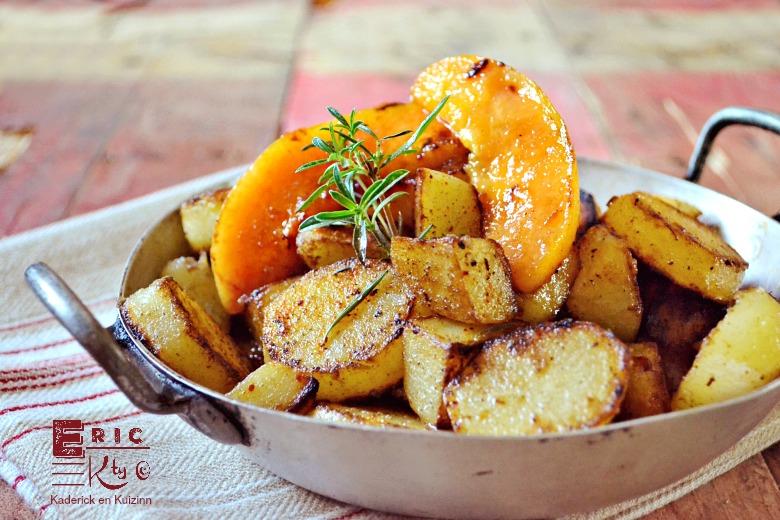 Pommes de terre et melon rissolés à la plancha